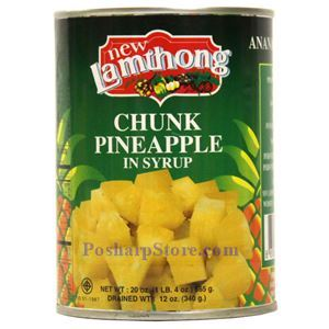 Picture of Lamthong Pineapple Chunks in Syrup 20 Oz