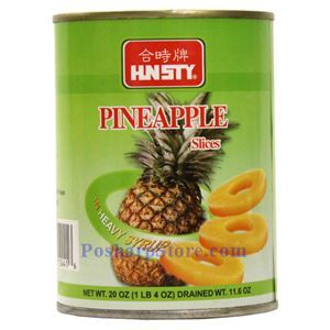 Picture of HN Sty Pineapple Slices in Heavy Syrup 20 Oz