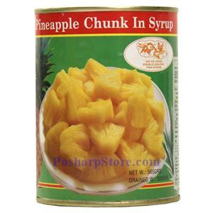 Picture of Double Golden Fish Pineapple Chunks in Syrup 20 Oz