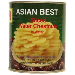 Picture of Asian Best Sliced Water Chestnuts in Water 29 Oz