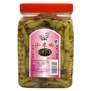 Picture of Paocaifang Sichuan Pickled Green Chili Peppers (Xiaomila) 3.3 Lbs