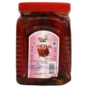 Picture of Paocaifang Sichuan Pickled Chili Peppers (Erjingtao) 3.3 Lbs