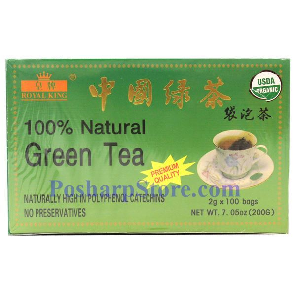 Picture for category Royal King 100% Natural China Green Tea 100 Teabags