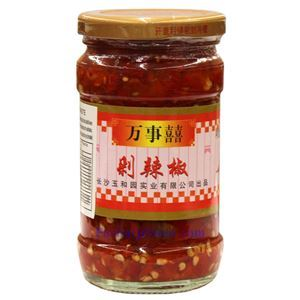Picture of Wanshixi Hunan Style Chopped Pickled Red Chili Peppers (Duolajiao) 9.8 Oz
