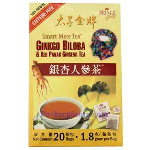 Picture of Prince Gold Ginkgo Biloba & Red Panax Ginseng Tea 20 Teabags