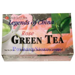 Picture of Uncle Lee's Tea Legends  Of China Rose Green Tea 100 Teabags