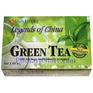 Picture of Uncle Lee's Tea Legends  Of China Green Tea 100 Teabags