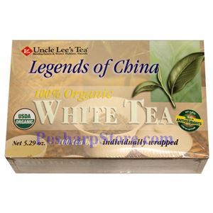 Picture of Uncle Lee's Tea Legends Of China 100% Organic White Tea 100 Teabags