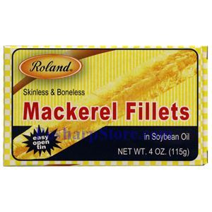 Picture of Roland Skinless & Boneless Mackerel Fillet in Soybean Oil 4 oz
