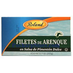 Picture of Roland Herring Fillets in Paprika Sauce (Arenque Pimenton Dulce) 7 oz