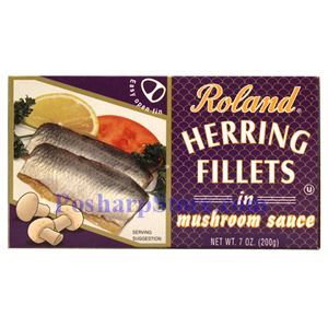 Picture of Roland Herring Fillets in Mushroom Sauce 7 oz