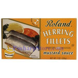 Picture of Roland Herring Fillets in Mustard Sauce 7 oz