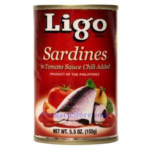 图片 Ligo牌辣味番茄沙丁鱼 155克