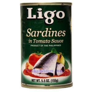 图片 Ligo牌番茄沙丁鱼 155克