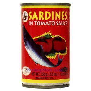 图片 乐鱼牌番茄沙丁鱼 155克