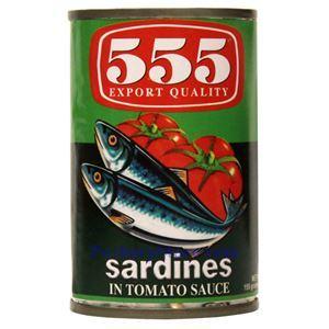 Picture of 555 Brand Sardines in Tomato Sauce 5.5 Oz