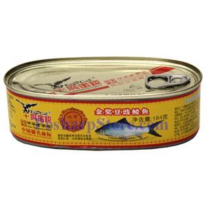 Picture of Eagle Coin Golden Metal Fried Dace with Black Bean Sauce 6.5 Oz