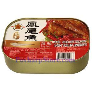 图片 金梅牌辣味野生凤尾鱼 184克