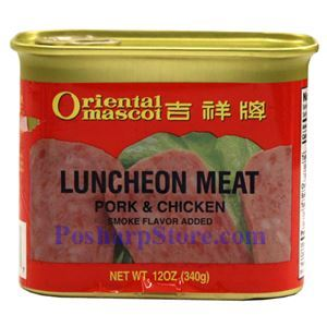 Picture of Oriental Mascot Smoked Pork & Chicken Luncheon Meat 12 oz