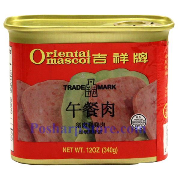 Picture for category Oriental Mascot Smoked Pork & Chicken Luncheon Meat 12 oz