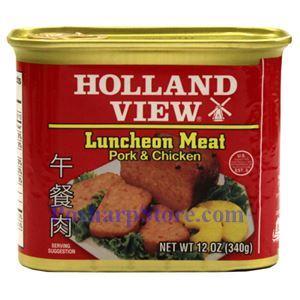 图片 Holland View 牌午餐肉(猪肉和鸡肉) 340克