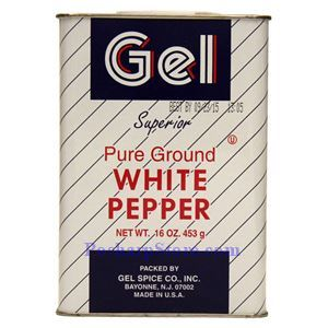 Picture of Gel Spice Superior Pure Ground White Pepper Powder 16 Oz