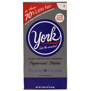 Picture of York Dark Chocolate Covered Peppermint Patties 5.25 Lbs