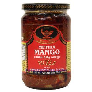 Picture of Deep Home Style Methia Mango Pickle in Oil 26  Oz