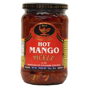 Picture of Deep Home Style Hot Mango Pickle in Oil 26  Oz