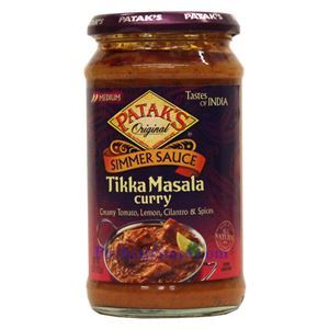 Picture of Patak's Simmer Sauce Tikka Masala Curry (Medium Spicy)   15 Oz