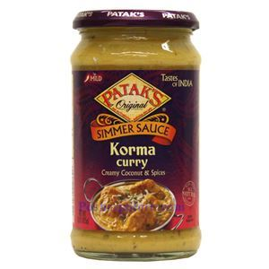 Picture of Patak's Simmer Sauce Korma Curry (Mild Spicy)   15 Oz