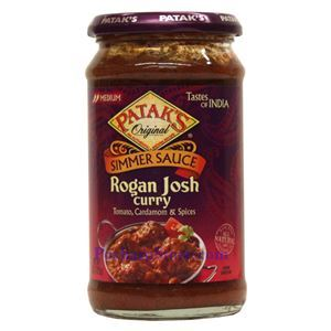 Picture of Patak's Simmer Sauce Rogan Josh Curry (Medium Spicy)   15 Oz
