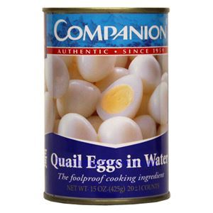 Picture of Companion Quail Eggs in Water 15 Oz