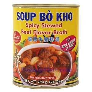 Picture of Lee Brand Vietnamese Style Spicy Stewed Beef Flavor Broth 28 Oz