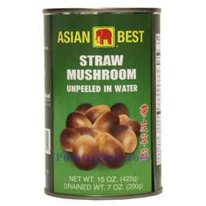 Picture of Asian Best Unpeeled Straw Mushrrom in Brine 15 Oz