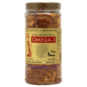 Picture of Yat Chau Alaska Deep Sea Fish Oil Omega-3 200 Softgels