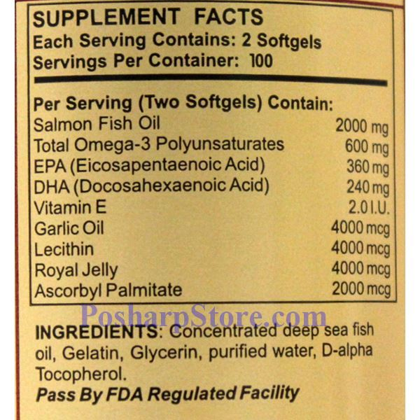Picture for category Yat Chau 4-In-1 Alaska Deep Sea Fish Oil 200 Softgels