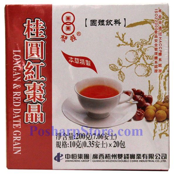 Picture for category Double Coins Longan & Red  Date Drink Powder 7 oz 20 bags