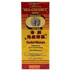 Picture of African Sea-Coconut Brand Herbal Mixture Sore Throat Syrup 6 oz