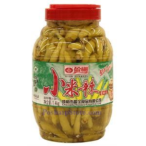 Picture of Chengdu Yingpeng Pickled Xiaomila Green Chili Peppers 2.2 Lbs