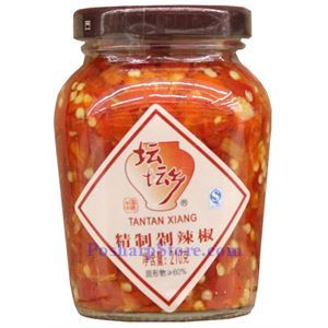 Picture of Tantan Xiang Hunan Style Chopped Pickled Red Chili Peppers (Duolajiao) 7.4 Oz