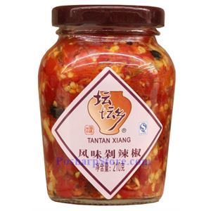 图片 坛坛乡牌湖南精制豆豉剁辣椒 210克