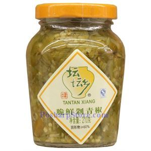 Picture of Tantan Xiang Hunan Chopped Pickled Green Chili Peppers (Duolajiao) 7.4 Oz