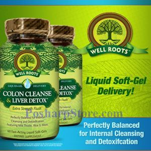 Picture of Well Roots™ Colon Cleanse & Liver Detox, 60 Liquid Softgels