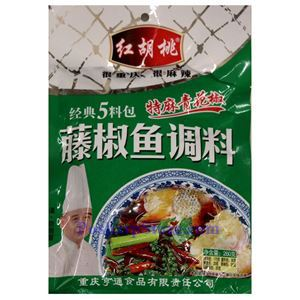 图片 红胡桃牌特麻青红椒藤椒鱼调料 260克