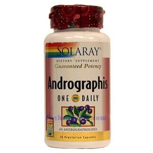 Picture of Solaray Andrographis (One Daily)  30 Vegetarian Capsules