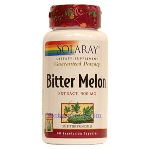 Picture of Solaray Bitter Melon Extract 500MG(5% Bitter Principles) 60 Vegetarian Capsules