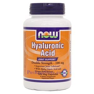 Picture of Now Foods Hyaluronic Acid Double Strength 100mg 120 Veg Capsules
