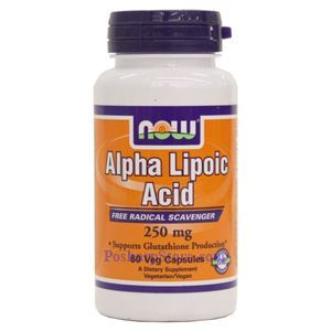 Picture of Now Foods Alpha Lipoic Acid 250mg 60 Veg Capsules