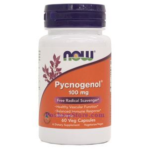 Picture of Now Foods Pycnogenol 100mg 60 Veg Capsules